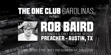 The One Club Carolinas | Speaker Series | Rob Baird tickets
