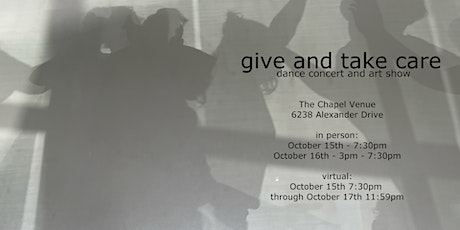 give and take care -- dance concert -- VIRTUAL SHOW tickets