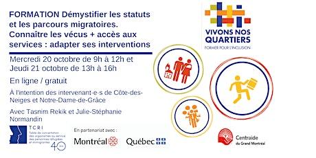 Démystifier les statuts migratoires - Former pour l'inclusion - 20 & 21 oct billets