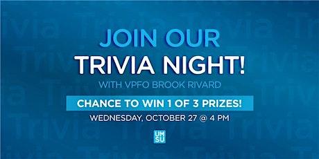 UMSU Trivia w/ your VPFO Brook Rivard: Halloween Quiz (Horror Movies). tickets