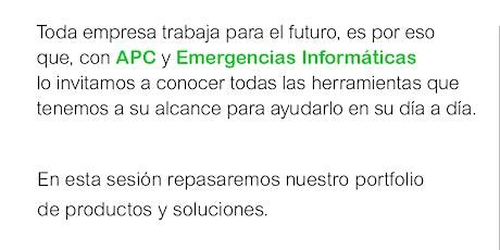 Herramientas para el Futuro de APC Schneider & Emergencias Informáticas SRL entradas