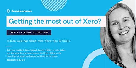 Xero tips & tricks webinar tickets