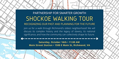 Shockoe walking tour: Recognizing our past and planning for the future tickets