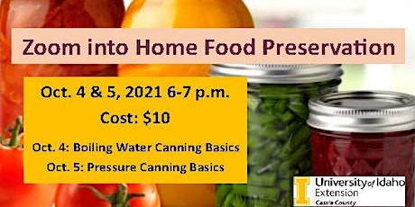 Zoom into Home Food Preservation tickets