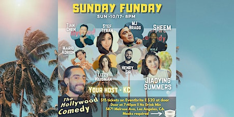 10/17 8PM SUNDAY FUNDAY SHOW AT The Hollywood Comedy tickets
