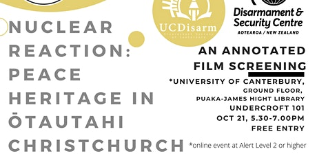 Nuclear Reaction: Peace Heritage in Ōtautahi Christchurch tickets