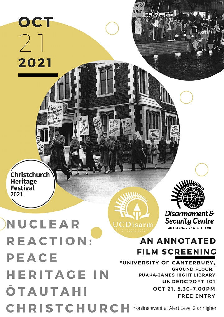 Nuclear Reaction: Peace Heritage in Ōtautahi Christchurch image