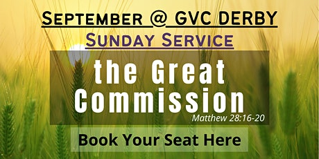 GVC Derby Sunday Service | 26th September 2021 | 10:00am-12:30pm tickets