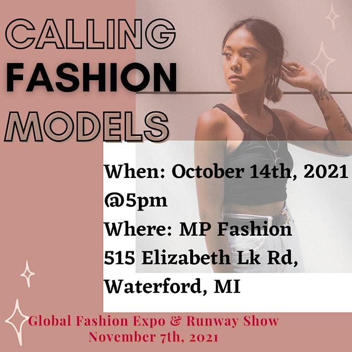 Model Call- Global Fashion Expo image