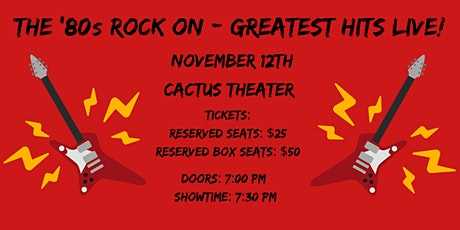 The '80s Rock On - Greatest Hits Live! tickets
