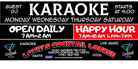 Karaoke At Louie's Cocktail Lounge tickets