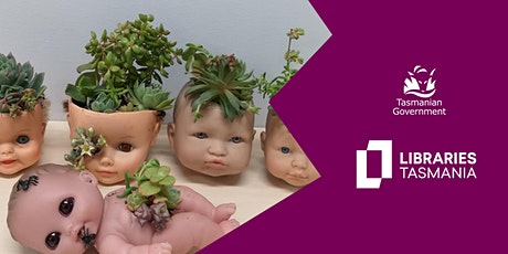 Make a creepy doll succulent planter @ Kingston Library tickets