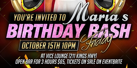 Maria's Birthday Bash tickets
