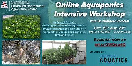 UA-CEAC  Online Aquaponics Intensive Workshop tickets