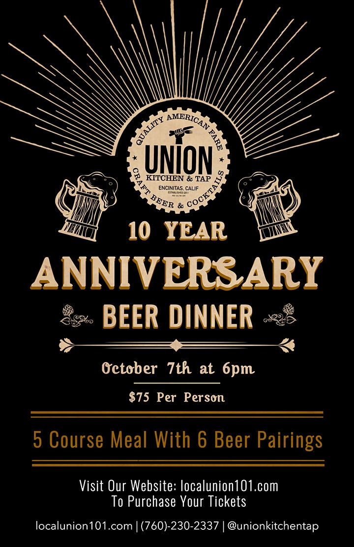 10th Anniversary Beer Dinner image