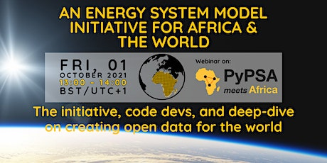 PyPSA meets Africa - An energy system modelling initiative for Africa tickets