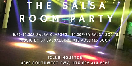The Salsa Room Party at iClub Houston 10/01 tickets