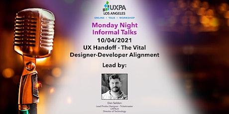 UX Handoff - The Vital Designer-Developer Alignment tickets