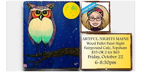 "Wood Pallet Paint Night ""Mr. Owl"" at Fairground Cafe, Topsham tickets"