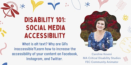 Disability 101: Social Media Accessibility tickets