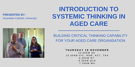 Introduction to Systemic Thinking in Aged Care tickets