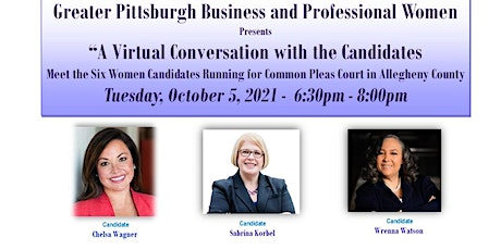 A Virtual Conversation with  6  Women Candidates for Judge In Allegheny Co tickets