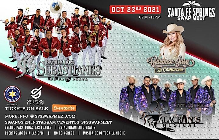 Banda Los Sebastianes, Alacranes Musical, y Carmen Jara image