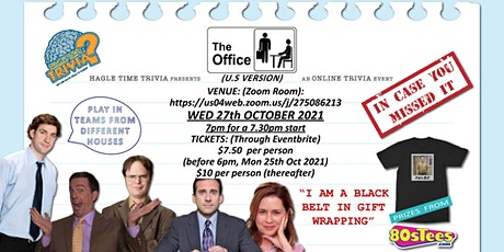 The Office (US) In Case You Missed It (23/10) Online Trivia tickets