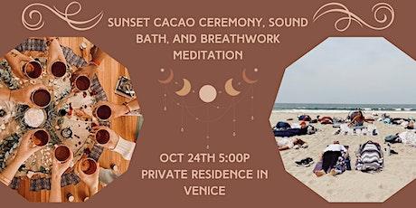 Cacao Ceremony, Sound Bath, and Breathwork Meditation tickets