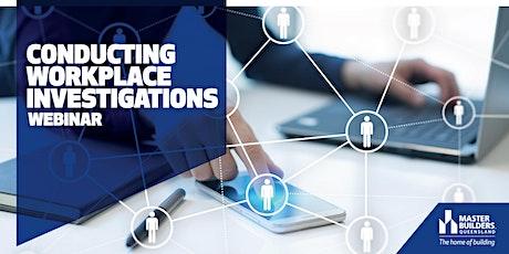 Conducting Workplace Investigations Webinar ingressos