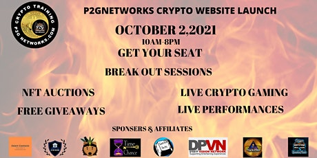 P2G NETWORKS CRYPTO WEBSITE LAUNCH tickets