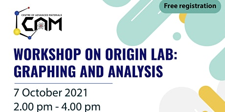 WORKSHOP ON ORIGIN LAB:  GRAPHING AND ANALYSIS tickets