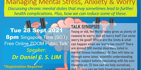 Managing Mental Stress, Anxiety & Worry tickets