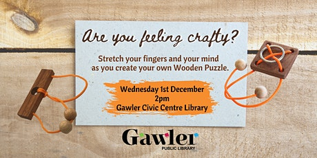 Crafternoon: Wooden Puzzles tickets