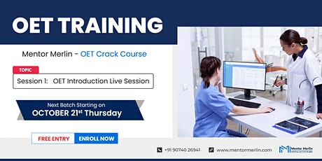 OET Training-OET Live Class Online -Introduction-Free Entry-Mentor Merlin tickets
