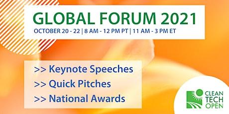 2021 Cleantech Open Global Forum tickets