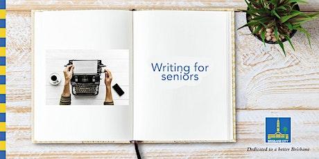 Seniors Month: Writing for seniors - Wynnum Library tickets