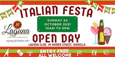 Italian Festa - Laguna Open Day tickets