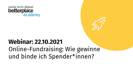 Webinar: Online-Fundraising: Wie gewinne und binde ich Spender*innen? Tickets
