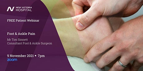 Free Patient Webinar with Q&A - Foot & Ankle tickets