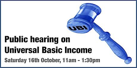 Public Hearing on UBI tickets