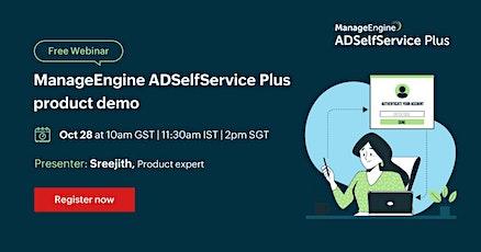 ManageEngine ADSelfService Plus Product Demo tickets