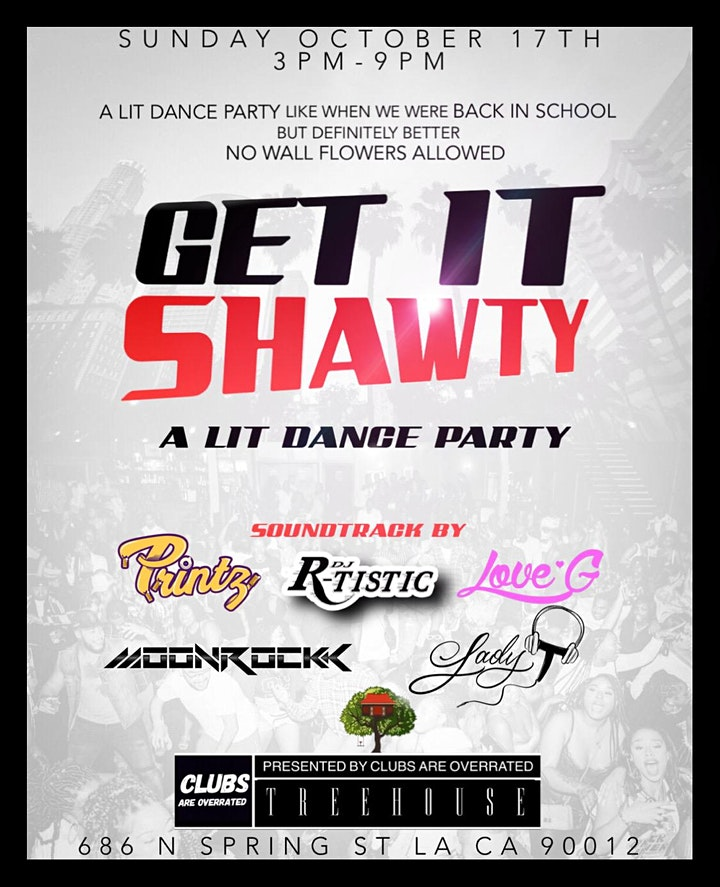 GET IT SHAWTY DAY PARTY @ TREEHOUSE ROOFTOP LOUNGE image