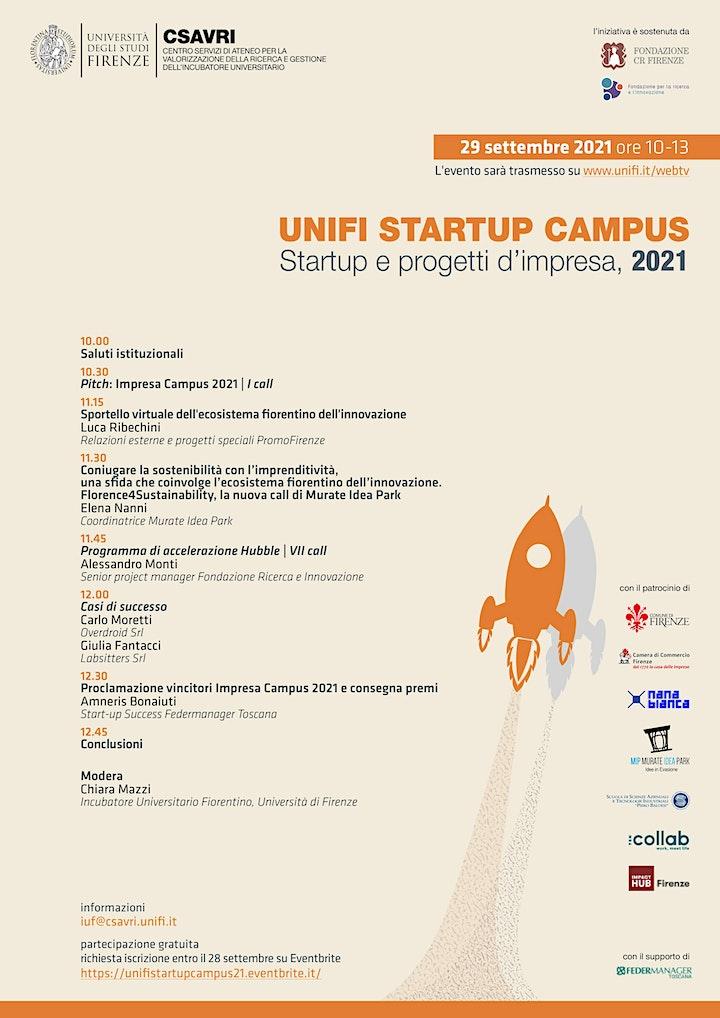 Immagine Unifi Startup Campus: startup e progetti d'impresa 2021