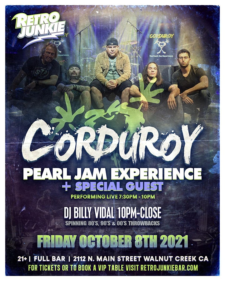 Corduroy (Pearl Jam Experience) + Special Guest LIVE @ Retro Junkie image