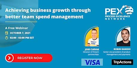 Achieving business growth through better team spend management tickets