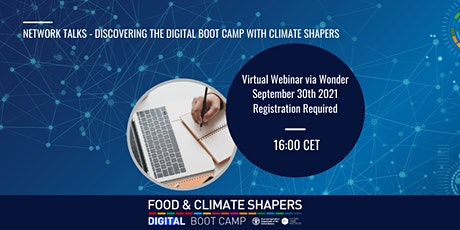 Network Talks - Discovering the Digital Boot Camp with Climate Shapers tickets