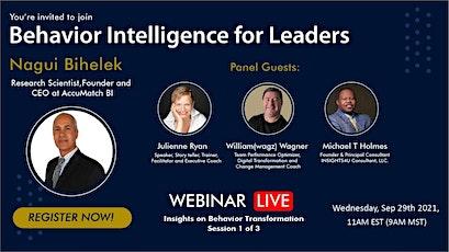 Behavior Intelligence for Leaders- Insights on Behavior Transformation tickets