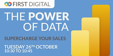 Supercharge Your Sales  - First Digital's Power of Data Week tickets