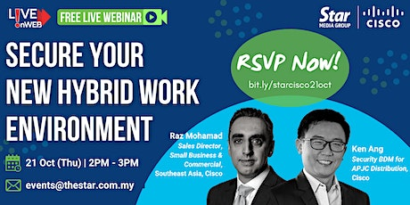 Secure Your New Hybrid Work Environment tickets